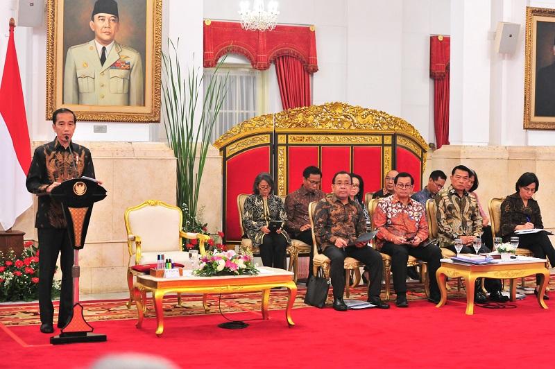 Jokowi Ingatkan Para Menteri Agar Masukkan Program Pembangunan SDM