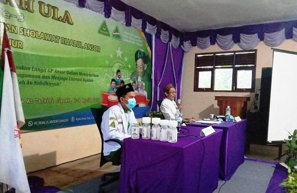 MDS Rijalul Ansor Cianjur Gelar Dirosah Ula Gembleng Kiai Muda