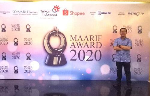Dakwahkan Islam Moderat, Ibnu Kharish Raih MAARIF Award 2020